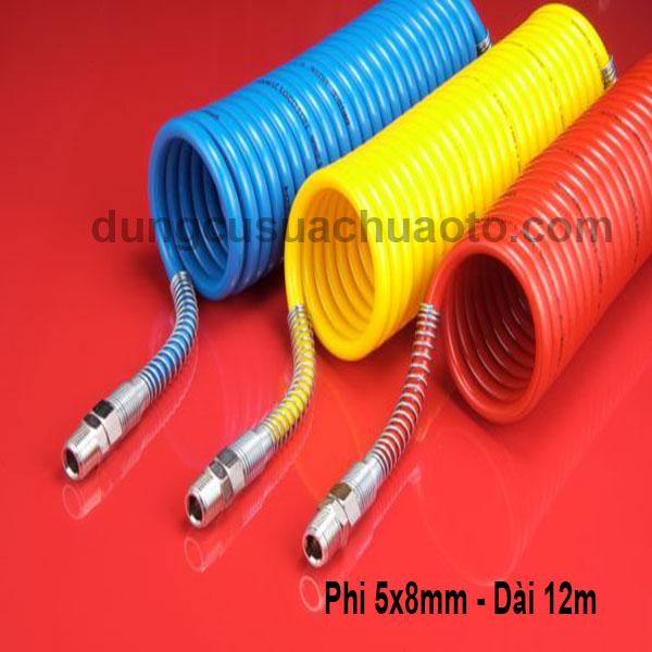 dây hơi lò xo xoắn puma phi 5x8mm ,dài 12m