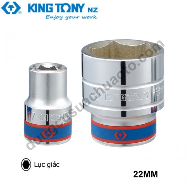 "khẩu tuýp 3/4"" 22mm kingtony"