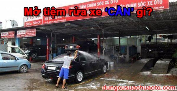 Mở tiệm rửa xe